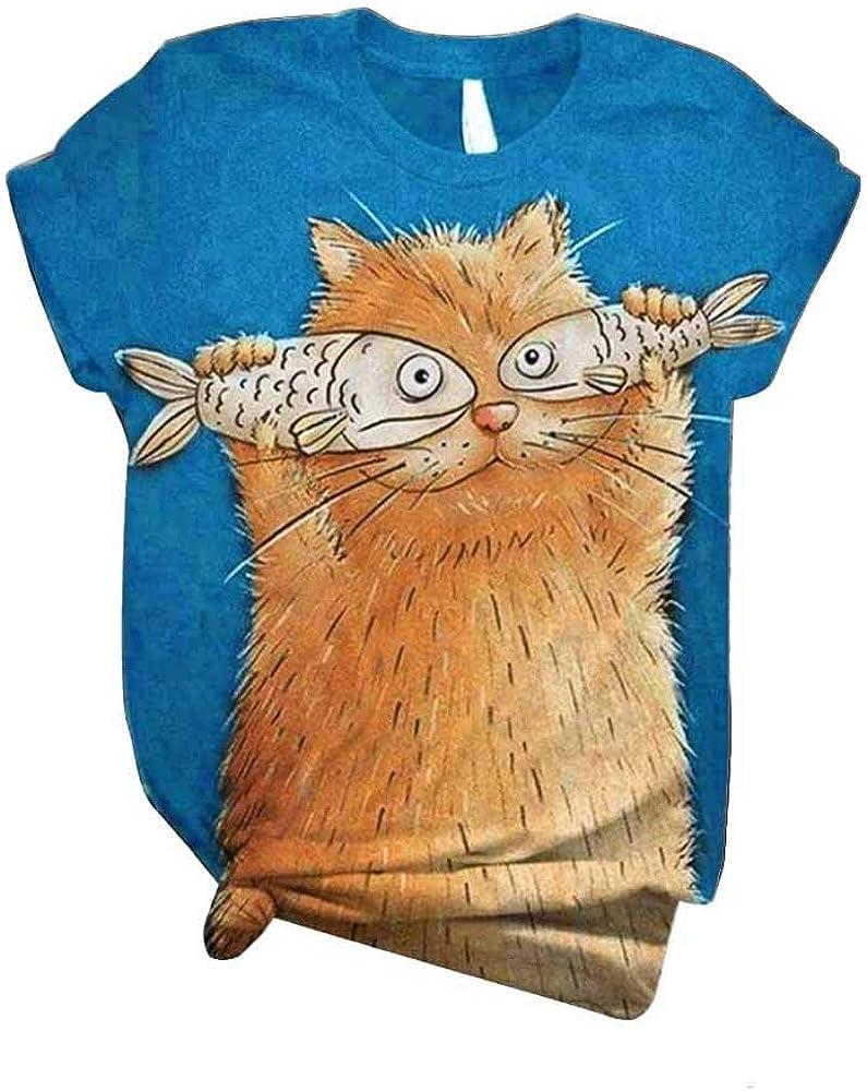 Camiseta Mujer Verano Casual Talla Grande, Morbuy Damas Blusa ...