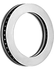 uxcell® AXK5578+2AS Needle Roller Thrust Bearings with Bearing Washers, 55mm Bore Diameter, 78mm OD, 5mm Total Thickness