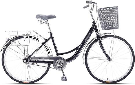 LIXIGB Bicicleta Urbana Cruiser para Mujer, 24/26 Pulgadas ...