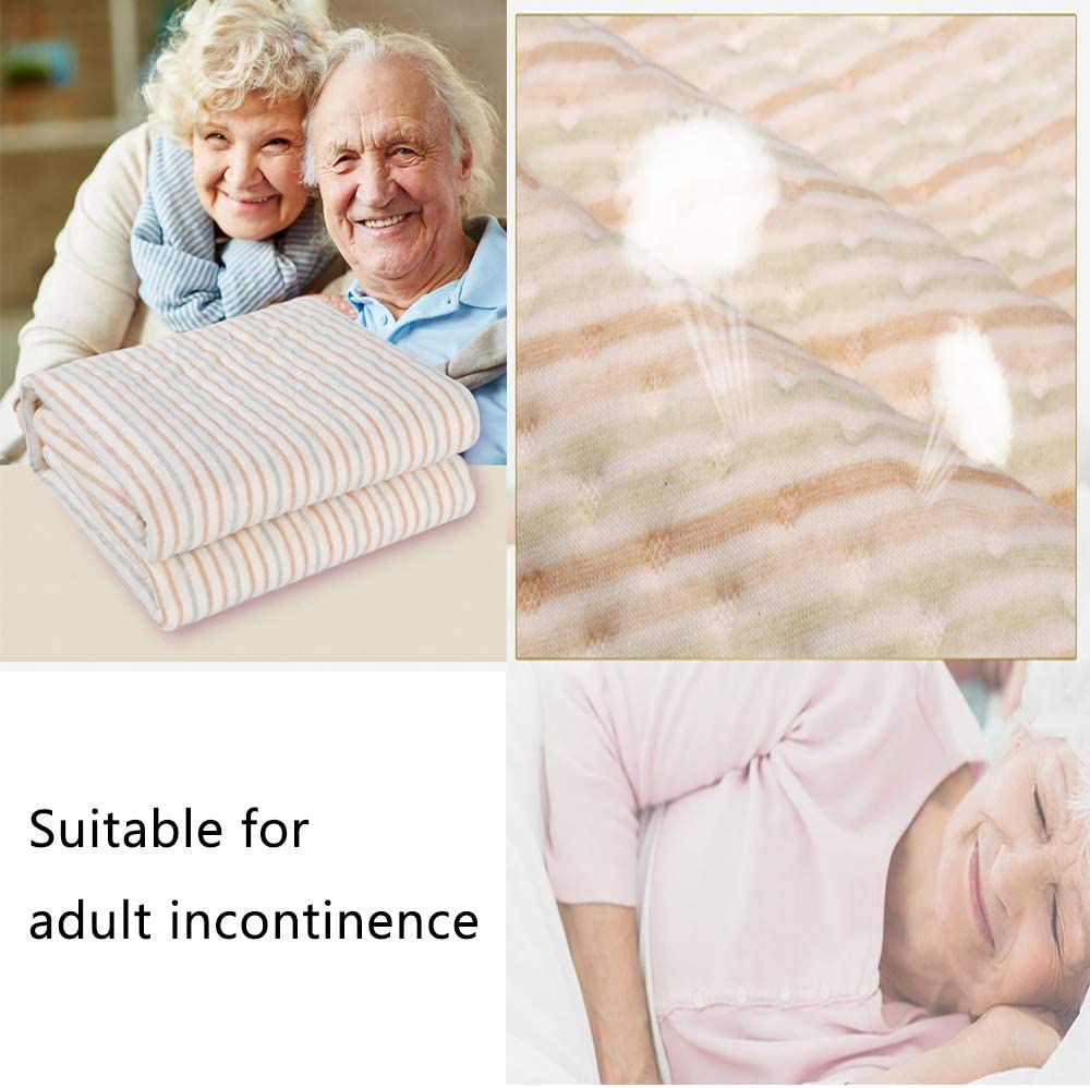Waterproof Bed Pad Washable /& Reusable Underpads 4 Layer Incontinence Mattress Protector 100/% Cotton Surface for Children Adults and Pets