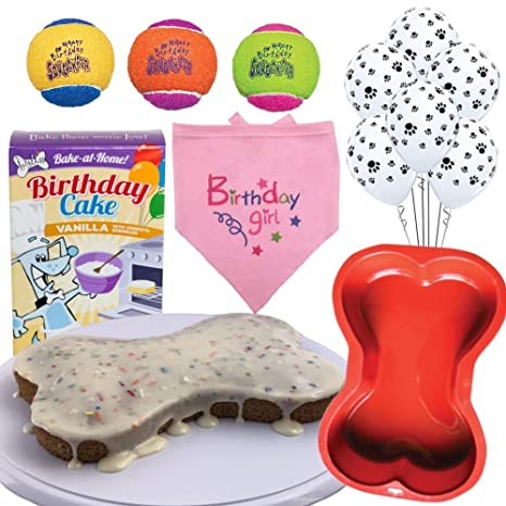 Dog Birthday Cake Mix And Party Kit