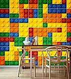Autocollant Décoratif Carrelage Lego (Pack avec 49) (10 x 10 cm)