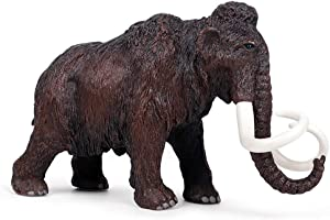 ZHUAN Mammoth Sculpture Figurine Home Decoration Outdoor Garden Sculpture Animal Model Collection Ornaments Children's Toys Gifts 20 X 6 X 13CM