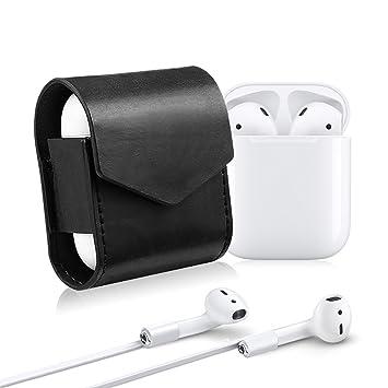 Airpods caso, ekoos Apple Aire Pods pantalla de piel sintética carcasa cierre de imán funda con tapa para auriculares Apple auriculares inalámbrico Airpods: ...