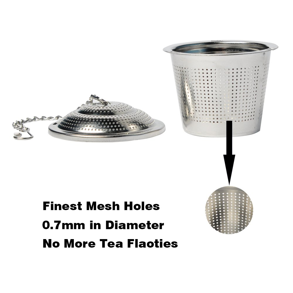 3-Pack Tea Infuser Set,Ultra Fine Stainless Steel Strainer,Loose Leaf Tea Infuser (3 Size Large Middle Small) WEL WEL SYNCHKG099331