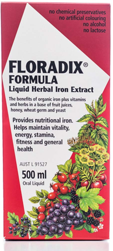 Buy Floradix Floravital Liquid Iron Formula Yf Gf 500ml Online At Low Prices In India Amazon In