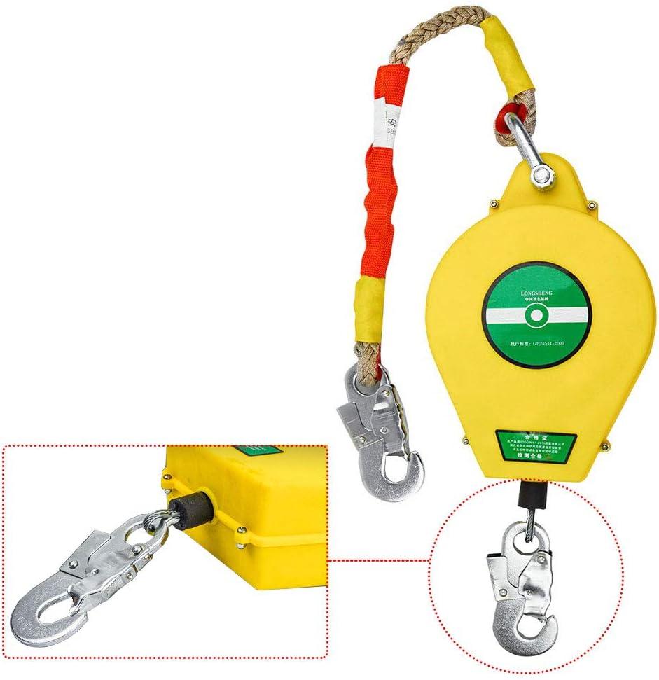 DFGENLY Antica/ídas Retr/áctil Bloqueo Freno de Cuerda Protecci/ón contra Ca/ídas Autofrenantes Protector de Rescate Carga 150 kg3m para Andamios