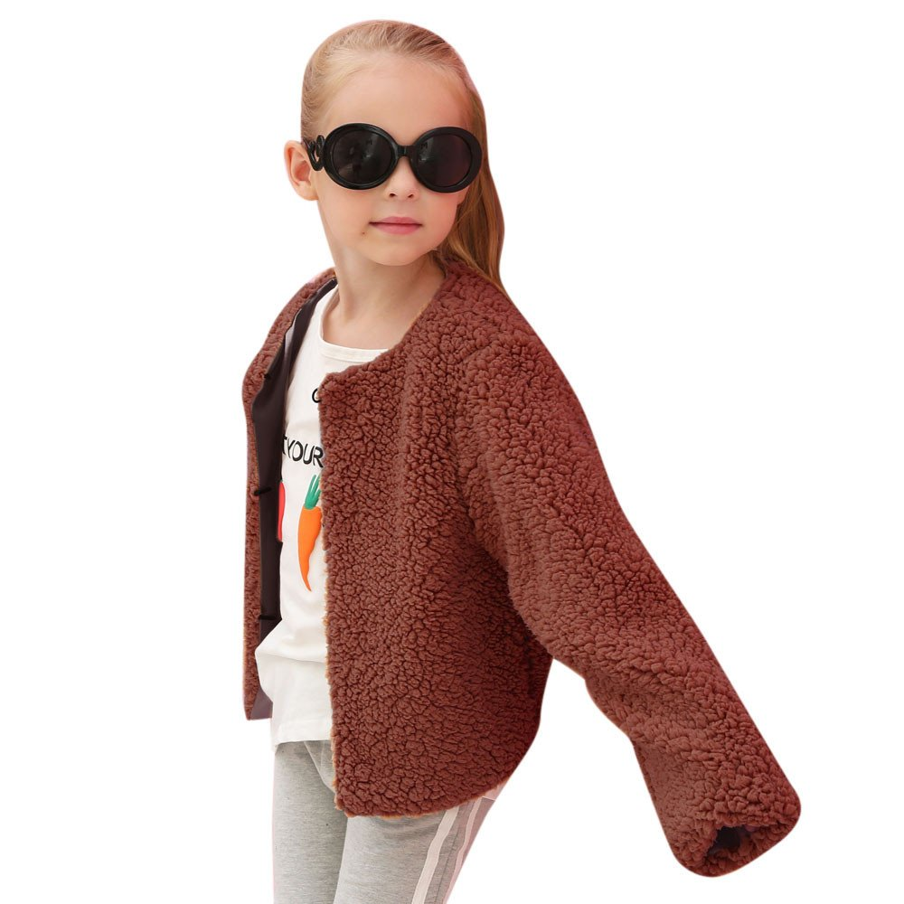 HOMEBABY Kids Baby Girls Boys Faux Cashmere Coat Jackets Thick Outfits Children Winter Clothes Parka Casual Outwear Gift
