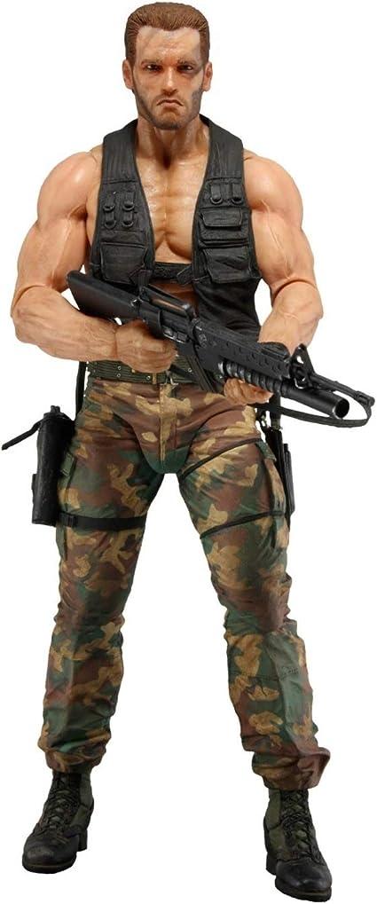 "NECA Predator Jungle Encounter Dutch Arnold 7/"" Action Figure Predators Series 9"