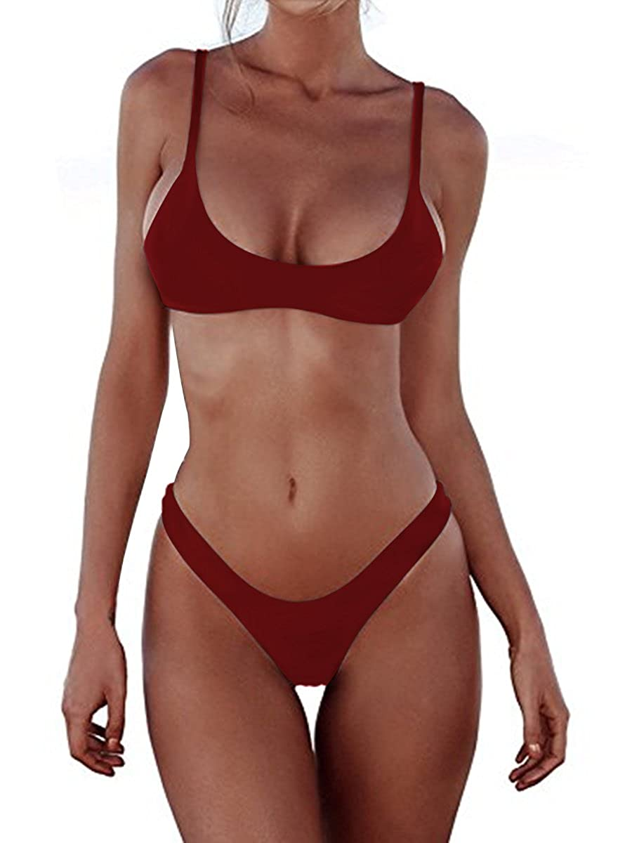 Women Bikini Sets Brazilian Padded Top Thong Cheeky Bikini Bottom 2PCs 2018 Swimsuit for Women MiYang YZ-MU180