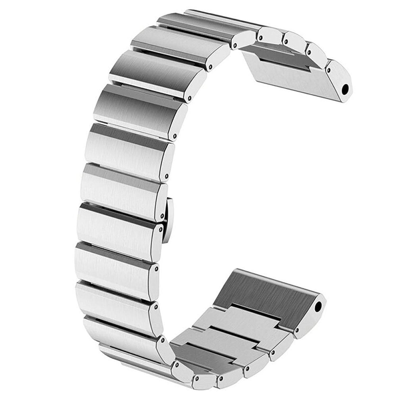 MSTRE gd10 26 mmステンレススチールメタル交換用リンクブレスレットGarmin Fenix 3スマート腕時計 26mm シルバー  シルバー 26mm B071SJZH5C