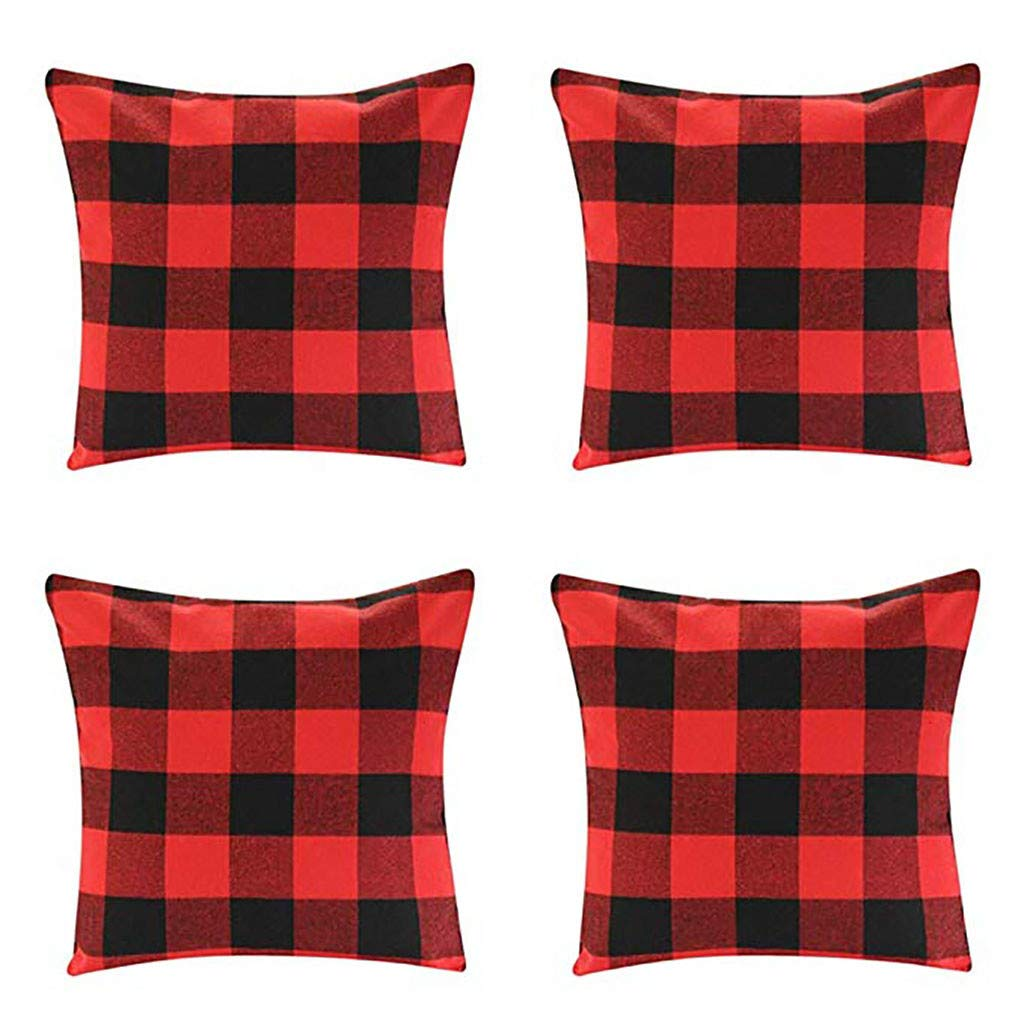 Clearance! Christmas Pillowcases, Christmas Deer Linen Cushion Cover Pillow Case Sofa Bed Home Decoration Festival Pillow Case Cushion Cover (4 pcs G)