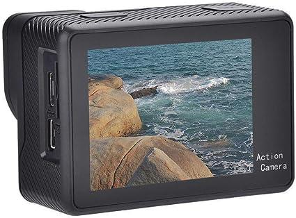Videocámara con cámara pequeña, cámara deportiva liviana utilizada para registros de tráfico 4K Full HD 1080P Pantallas dobles Pantalla táctil Cámara deportiva WiFi Acción Videocámara Control remoto: Amazon.es: Electrónica