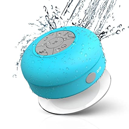 jemma waterproof bluetooth speaker wireless shower portable handfree call with micblue