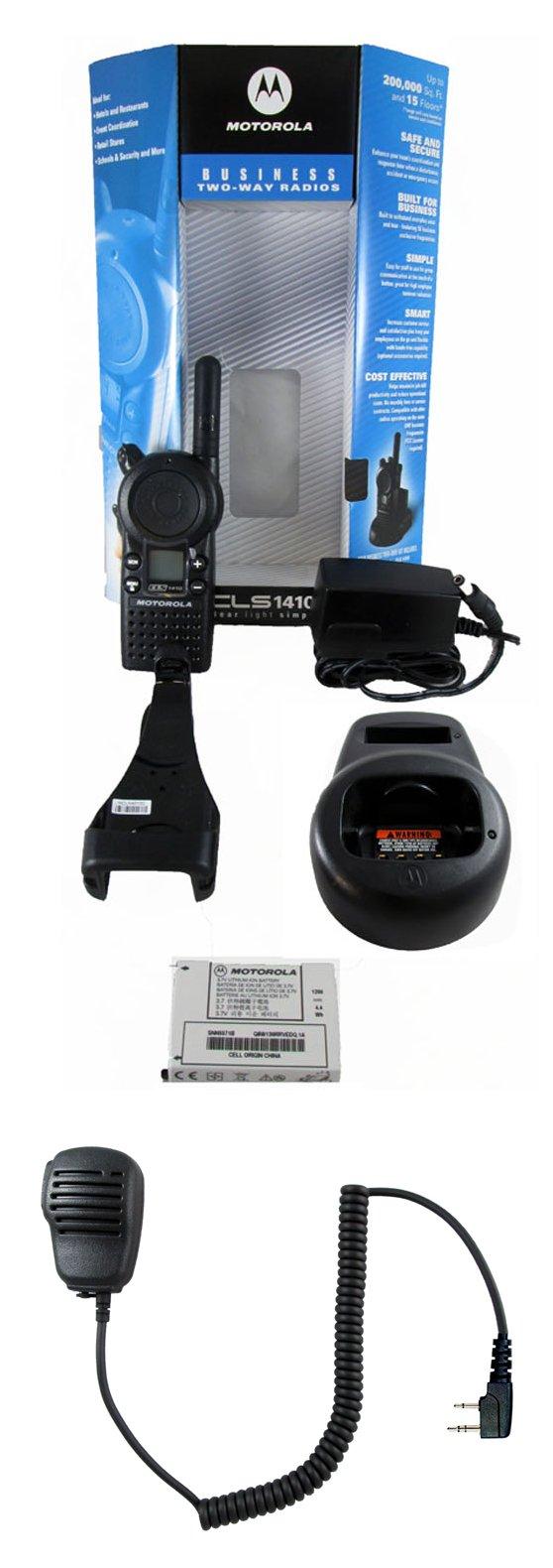 Motorola CLS1410 1 watt 4 channel business radio and Speaker Microphone