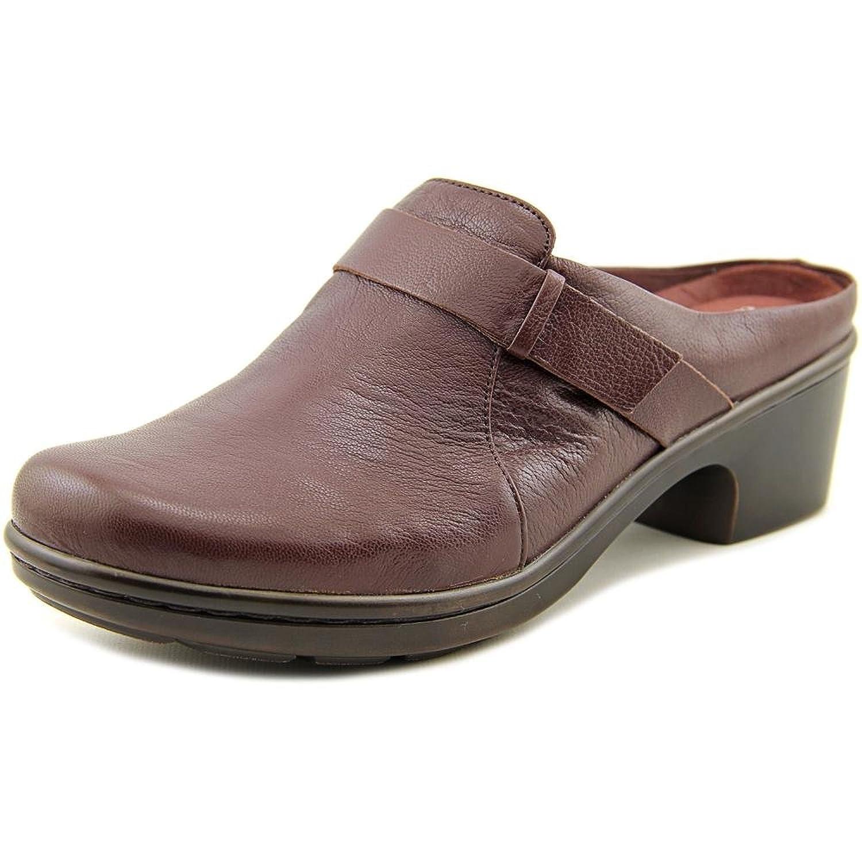 Easy Spirit Lorenda Women Round Toe Leather Purple Mules