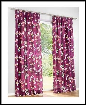 heine home Farbe aubergine mit Kräuselband -121790 Dekostore 1 Stück