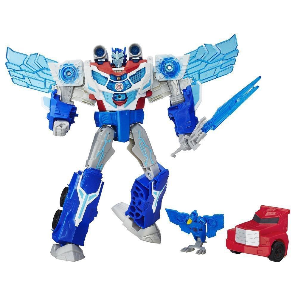 Transformers Robots in Disguise Power Surge Optimus Prime and Aero Bolt Figure Hasbro B7066EU40