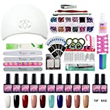 uv nails polish - Saint-Acior 10 Colors Gel Polish Starter Kit 36W LED UV Nail Dryer Curing Lamp Manicure Nail Tool