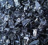 Grey Fireglass Fireplace Fire Pit Glass, ~1/4″ GRAY 4 Lbs