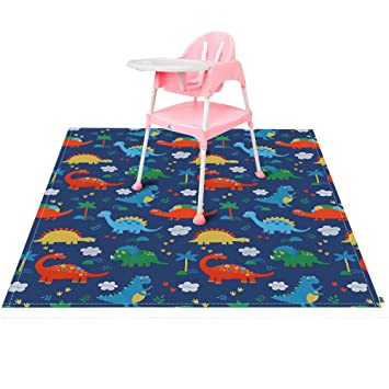 Baby kids Washable Highchair Food Splash Spill Mat Floor Table Protector Cover