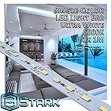 Aluminum LED Solid Strips - Interior Design Lighting - Ultra White - 6000K - 1 Set (1M/3.3FT)