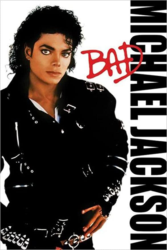 Amazon.de: Michael Jackson - Bad Poster Drucken (60, 96 x 91, 44 cm)