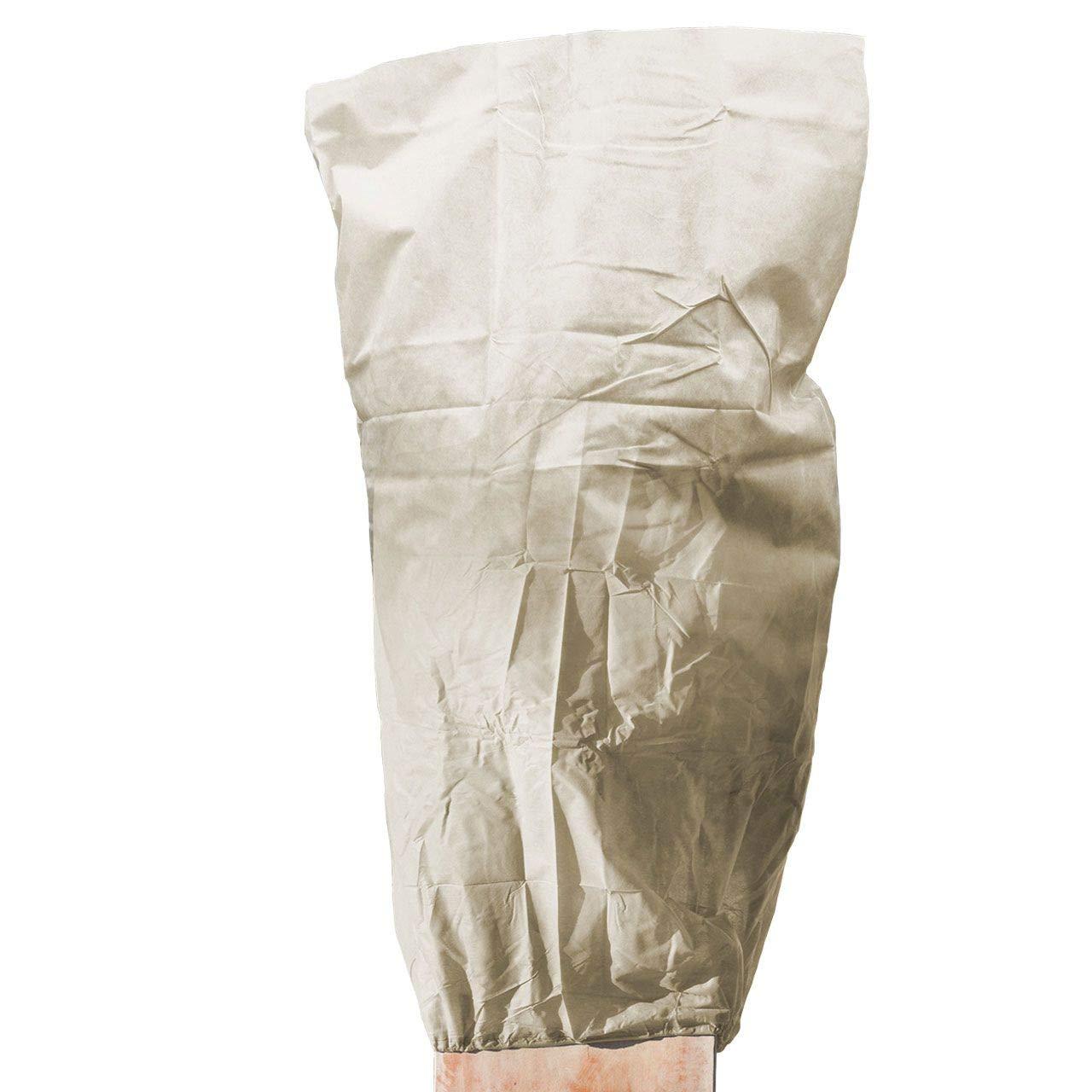 AFP Winterschutz Vlieshaube Strong Beige, 120 x 180cm 100g/qm Extrem Stark, Kübelpflanzensack für Olivenbäume, Palmen/Frostschutz Pflanzen/Reißverschluss / 2 Jutesäckchen Gratis