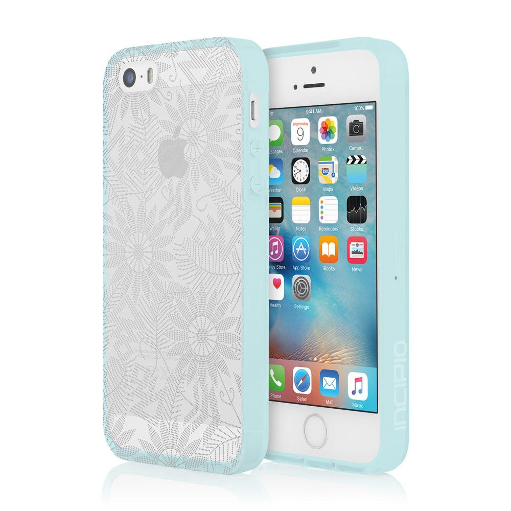 Incipio Cell Phone Case for Apple iPhone 5/5S/SE - Retail Packaging - Bearded Daisy/Silver