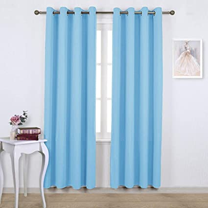 NICETOWN Sky Blue Blackout Curtains
