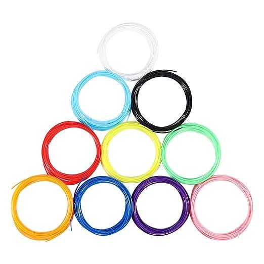 Weiye Filamento para bolígrafo 3D ABS de 1,75 mm, 10 Colores ...