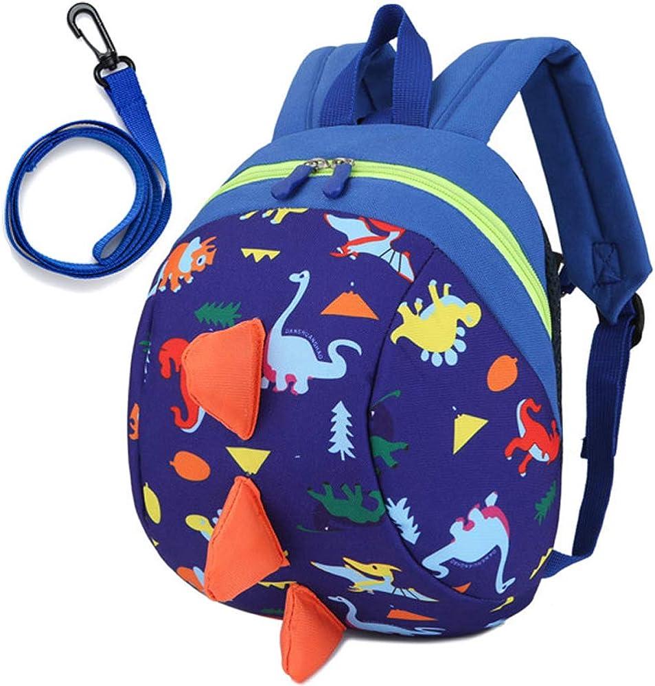 Green Dinosaur Backpacks WENTS Toddler Boys Girls Kids Dinosaur Backpack Cartoon Safely Anti-Lost Strap Rucksack with Reins
