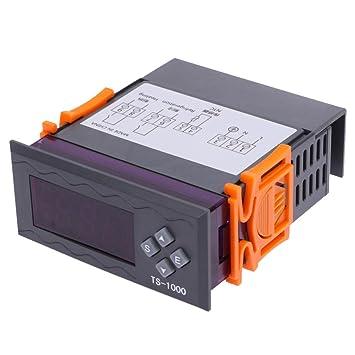 MagiDeal Termostato Digital Termostato AC Calefacción por Refrigeración
