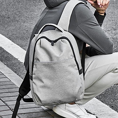 Mochilas casual negro hombre Zipper impermeables Widwing para widewing gris el Business hombro para estilo t86wqx
