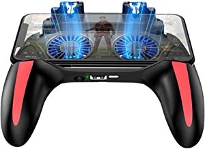 PUBG Mobile Controller, H10 Double Fan Cooling Mobile Gamepad, Rules of Survival Gaming Joysticks with Sensetive Shooting Feel, Compatible with 4.7-6.0 inch iOS & Android Phone Accessories