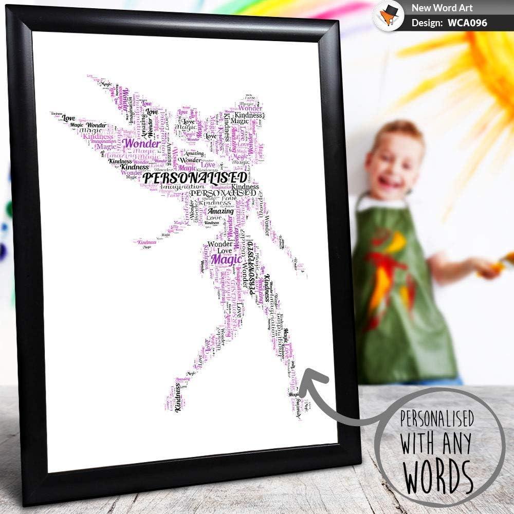 Personalizado Fairy Palabras Arte Regalos Hadas Estampado Tarjetas Enmarcado Cualquier Tamaño / Colores Único para Daughter Sobrina Tía Nanny Mamá en Navidad Cumpleaños Aniversario Pedida Boda Bautizo