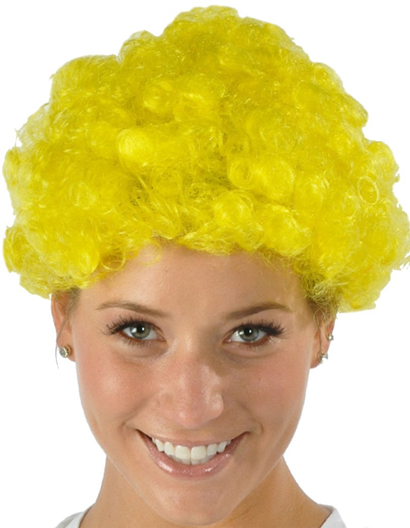 Rhode Island Novelty Mens Womens Child Costume Accessory Dress Up Blond Yellow Afro Wigs