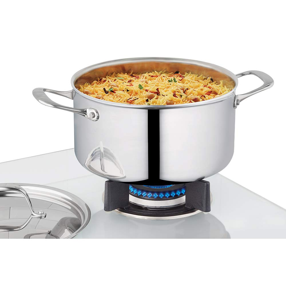 Borosil - 5-Ply Stainless Steel Casserole, 5.2L, Silver