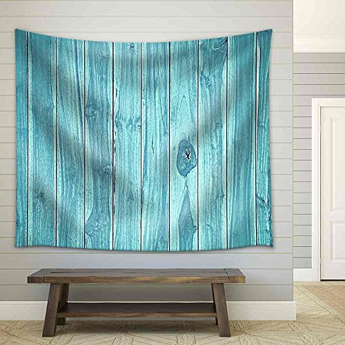 Blue Wood Background Fabric Wall Tapestry