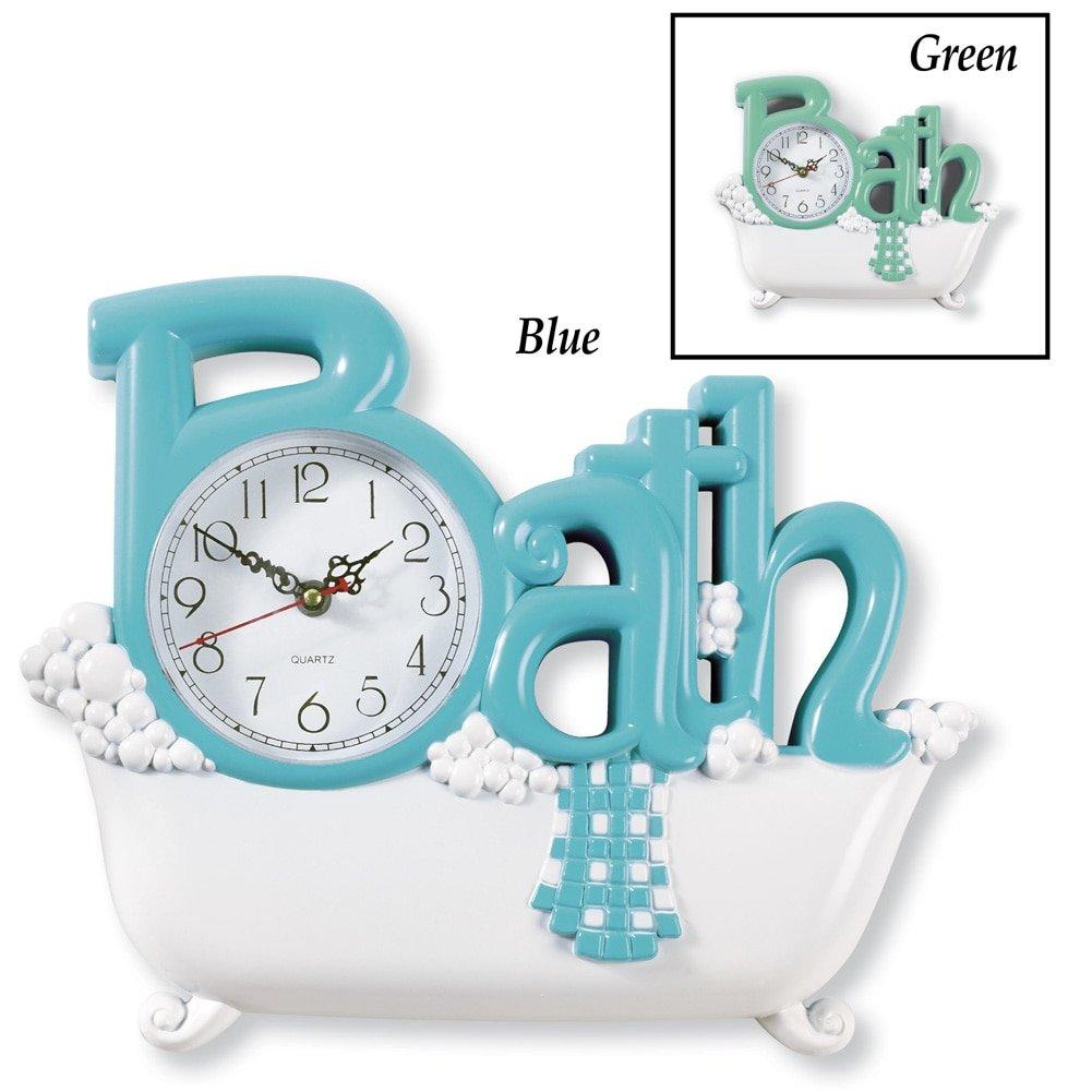 Amazon.com: Bathroom Wall Clock, Blue: Home & Kitchen