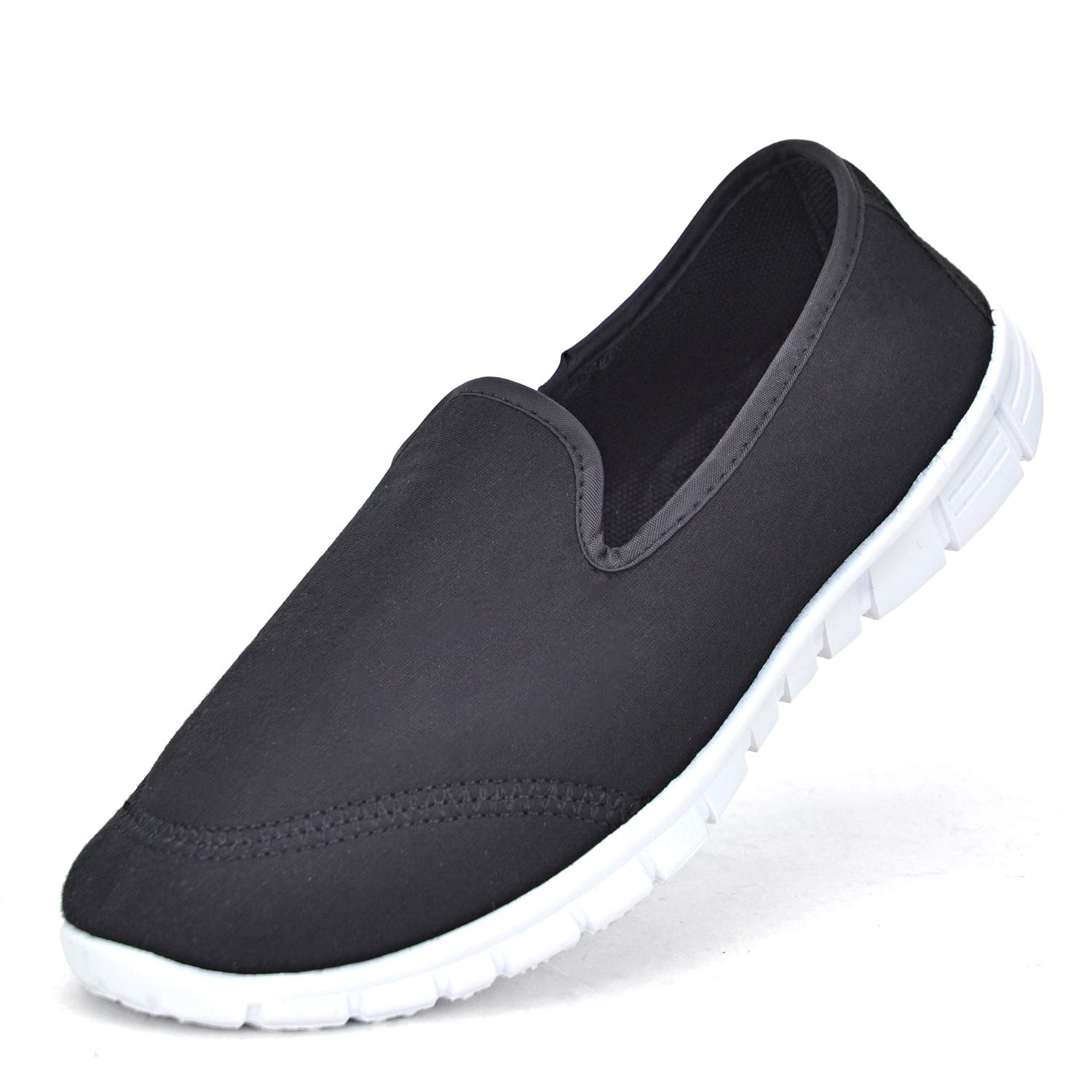 Women Slip on Sneakers Walking Shoes Lightweight Flat Ladies Casual Canvas Breathable Shoes