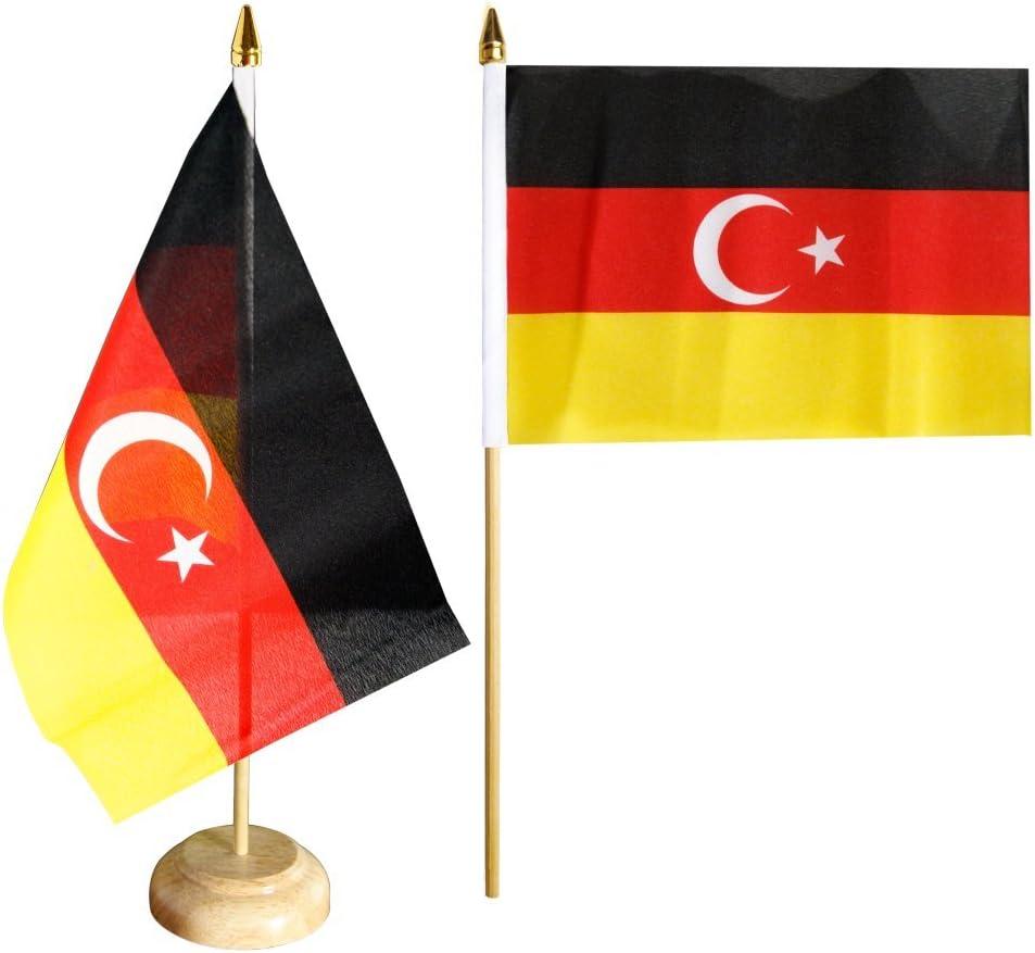 flaggen AZ FLAG TISCHFLAGGE T/ÜRKEI 15x10cm T/ÜRKISCHE TISCHFAHNE 10 x 15 cm