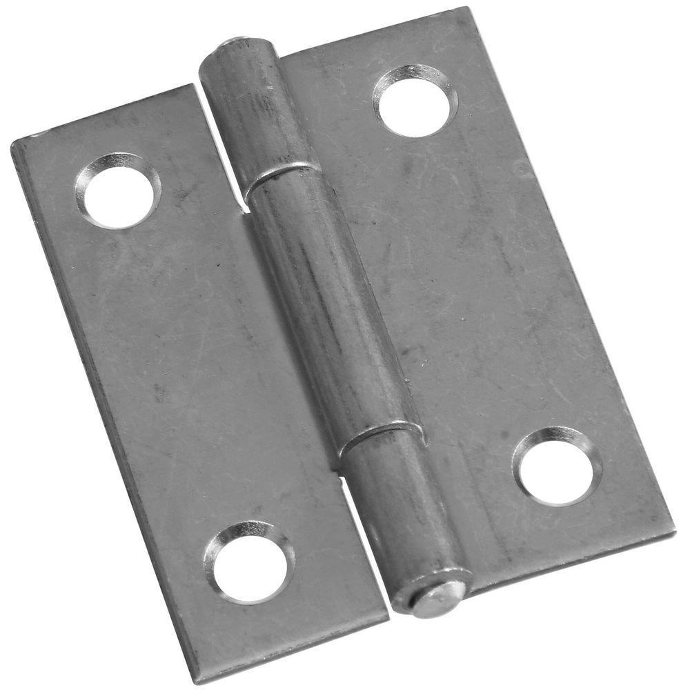 National Hardware N227-256 MPB518 Non-Removable Pin Hinges in Zinc plated 2 pack