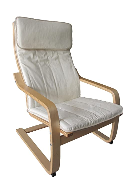 Amazon.com: happilar silla Bentwood Sillón con cojín, marco ...