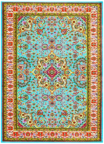 10015 Blue 7'10x10'6 Area Rug Carpet Large New by Persian Area Rugs