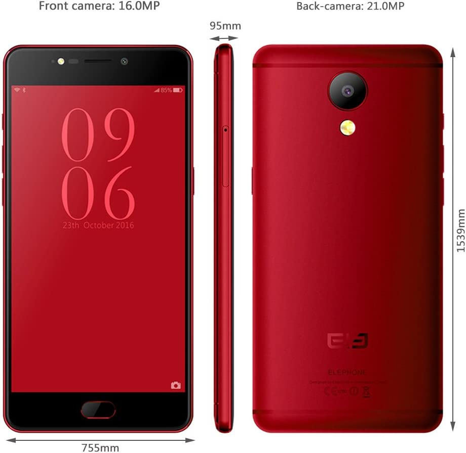 Elephone P8 5.5 Inch Smartphone 4G Phablet Android 7.0 Helio P25 ...