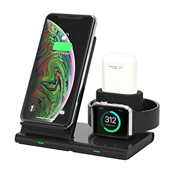 Alle Qi-f/ähige Telefone iPhone 11//XS//XR//8 Yaature Fast Wireless Charger 4 in 1 kabelloses Induktive Ladeger/ät Schnellladestation mit Stift st/änder f/ür iWatch 5//4//3//2//1 Airpods Samsung S9//S8