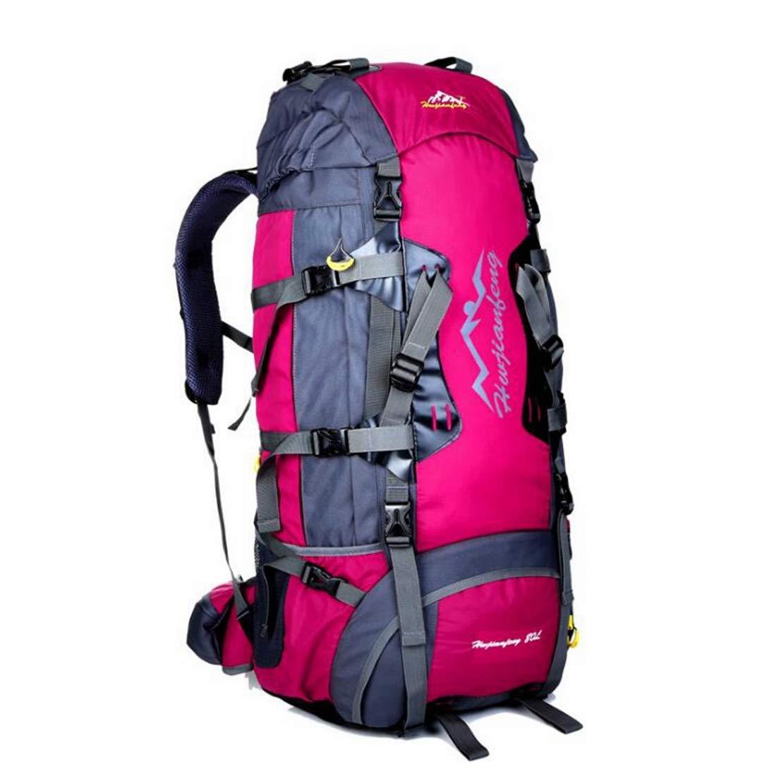 CeSuoLBD クライミングバックパックキャンプバックパック登山バックパック快適な防水ハイキング軽量 (Color : Rose)  Rose B07NP9MCKH