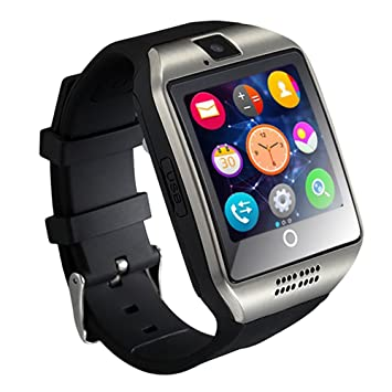 GZDL Q18 Bluetooth reloj inteligente pantalla táctil con cámara Desbloqueado reloj teléfono móvil con tarjeta SIM ranura inteligente reloj de pulsera ...