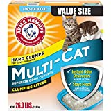 Arm & Hammer Multi-Cat Litter, Unscented, 26.3 Lbs (Packaging May Vary)